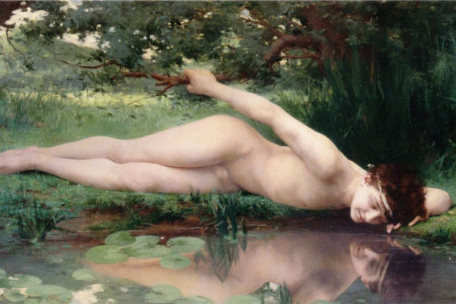 Fragment Narciso (1890) di Jules-Cyrille Cavé (fragment)