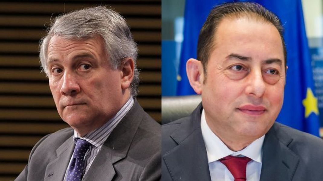 Antionio Tajani en Gianni Pittella