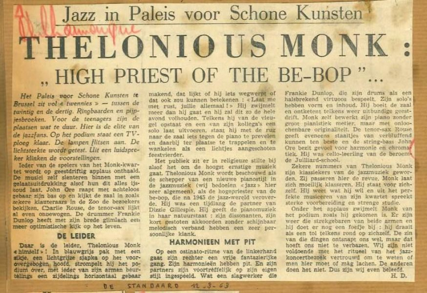 Krantenartikel over het PSK-concert in 1969