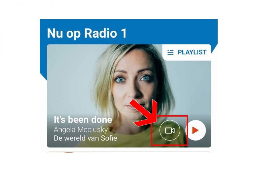 Klik rechtsonder op de video-button